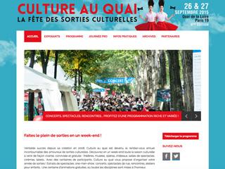 Yellow Pix Road, studio de création graphique Paris : Projet Culture au Quai