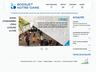 Yellow Pix Road, studio de création graphique Paris : Projet Bossuet Notre-Dame