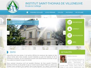 Yellow Pix Road, studio de création graphique Paris : Projet Institut Saint-Thomas de Villeneuve