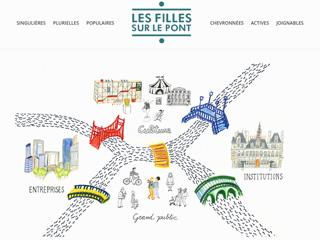 Yellow Pix Road, studio de création graphique Paris : Projet Les Filles sur le Pont