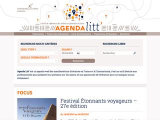 Yellow Pix Road, studio de création graphique Paris : Projet Agenda Litt'