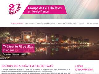Yellow Pix Road, studio de création graphique Paris : Projet Groupe des 20 Théâtres